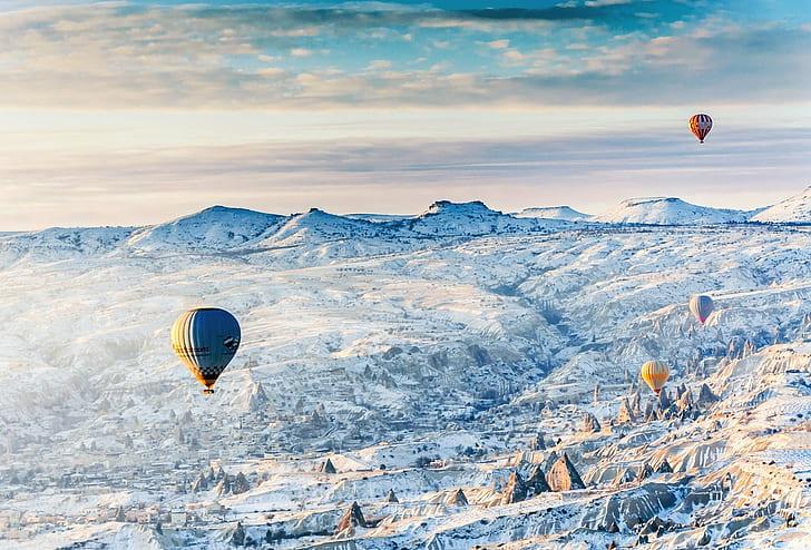 منظره برفی کاپادوکیا