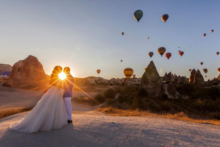 عکس عروسی در کاپادوکیا