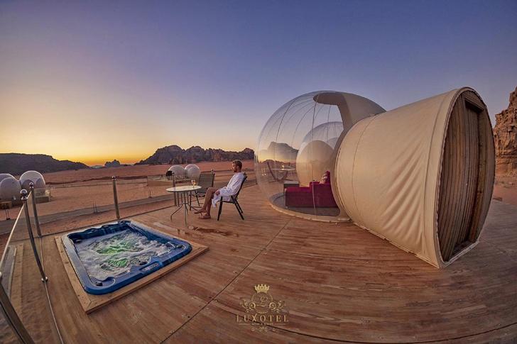 فضای حباب شخصی هتل وادی روم