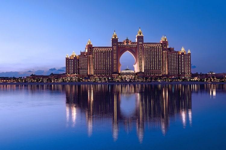 نمای هتل آتلانتیس پالم دبی