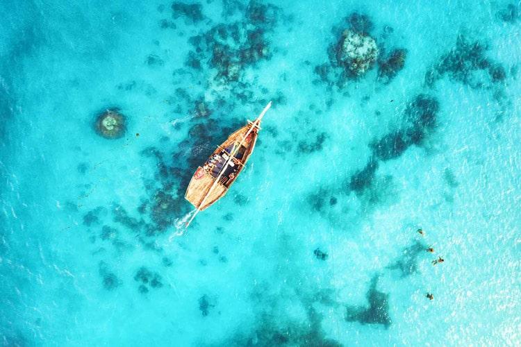 قایق سواری در زنگبار