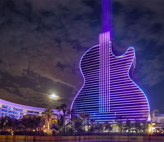 نمای شب از هتل گیتاری فلوریدا